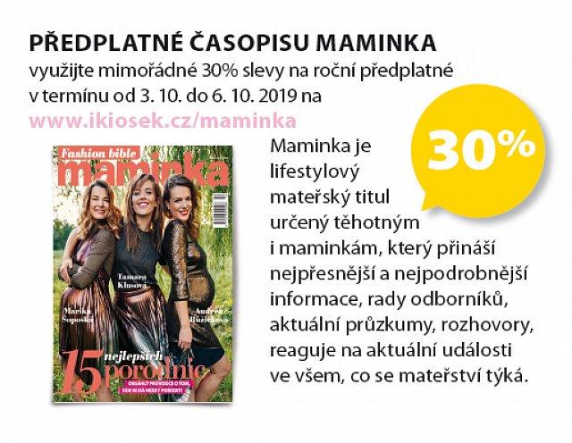 Obrázek kupónu - předplatné časopisu Maminka